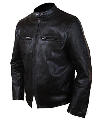 F&H Men's Burnt Bradley Cooper Adam Jones Jacket Black