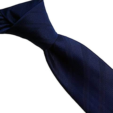 100% pure silk woven neckties SKINNY SOLID SO (navy)