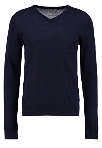 KIOMI Pullover Herren mit V-Ausschnitt – 100 % Merino Wolle – Strickpullover in Blau, M (Herren-pullover Alpaka-wolle)