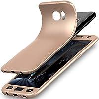 Galaxy S7borde caso, Galaxy S7Edge Funda, ikasus [vidrio templado] ultrafina a prueba de golpes Armor Soft TPU Silicona Caucho anti-slick Full Cuerpo Protector Bumper Back Case Cover for Galaxy S7Edge,