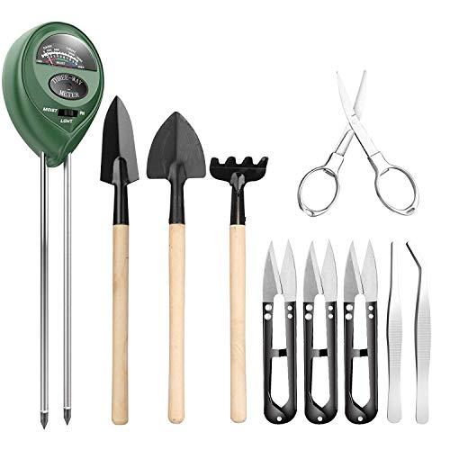 Yollhy 10-in-1-Bodenmesser: Gartenschere, Faltschere, Mini-Rechen, Bud Leaf Trimmer Set von