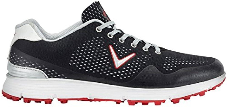 Callaway Chev Vent Zapatillas de Golf, Hombre, Negro (Black/White), 46 EU