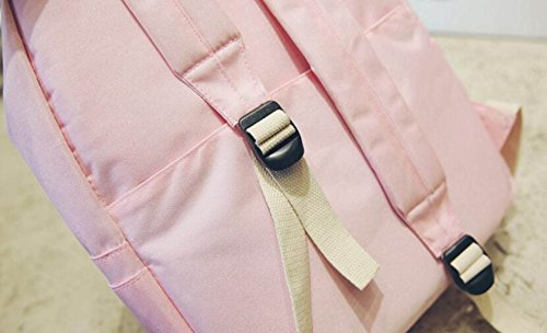 FZHLY Arts Canvas Shoulder Bag Solido Di Colore Zaino Di Svago Impermeabile,Khaki Gray