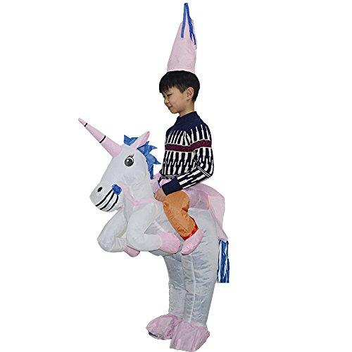 YOWESHOP Halloween Erwachsene aufblasbar Ride Einhorn Party Kleid Anzug Fancy Kostüm (mit USB Draht), Roll Over Bild zu Zoom in Halloween Kid aufblasbar Ride Einhorn Party Kleid Suit Fancy Kostüm
