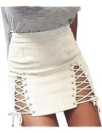 d7d79e1d73 Primavera Otoño Mujeres Mini Falda con Vendaje Sexy Paquete de Cadera Falda  de Club Joven Mode