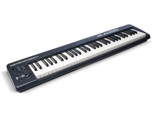 M-Audio Keystation 61 II - USB MIDI Tastatur Keyboard Controller mit 61 anschlagdynamischer Synth Action Tasten inklusive SONiVOX (EightyEight Ensemble) Software für Mac und PC