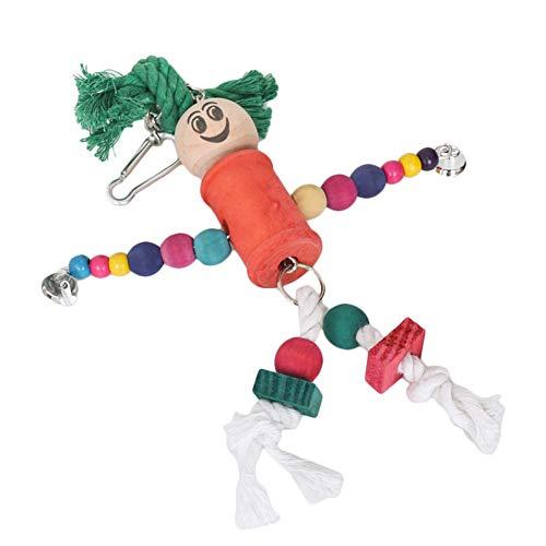 ghfashion - Giocattolo da Masticare con Perline in Legno per pappagalli, Arrampicata, morso