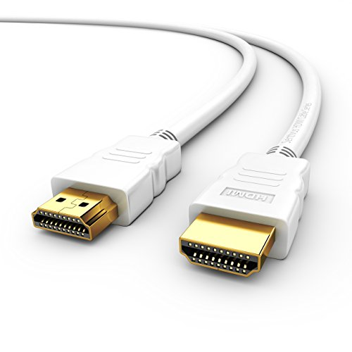 Sentivus HDMI Kabel 5m (High Speed with Ethernet, Full HD, ARC, 3D, CEC, 2-fach geschirmt) - weiß