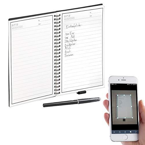 General Office Notepad: Wiederverwendbares Notizbuch mit schwarzem Stift und App, DIN A5 (Digital-Notiz-Buch)
