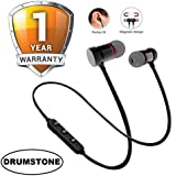 DRUMROAR Magnetic Wireless Bluetooth Earphones Headset with Mic for Handsfree Calling for All Smartphone Devices