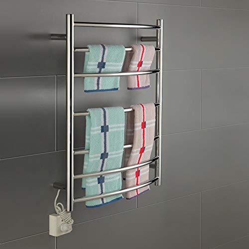 FOUR Chauffe-Serviettes électrique Manuel Chauffant radiateur chrome-750 * 520 * 125-90W