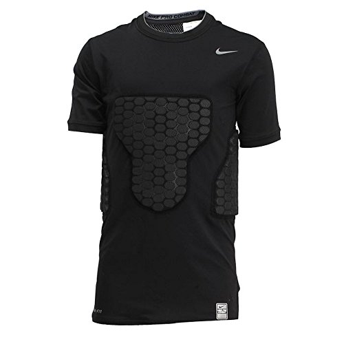 Nike Pro Combat Boys Vis-Deflex Compression Shirt (411518-010) (Black / Cool Grey) (X-Large) (Side Panel Lock)