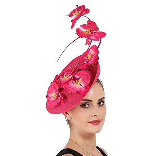 Xiuoamy Frauen Elegante Fascinator Hut Kopfschmuck Braut Kopfschmuck Western Hut Kopfbedeckung Stirnband Haarspangen Bankett - Western Tanz Kostüm Bilder