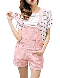 ecc39d7f7a7 semen Ladies Denim Dungarees Playsuit Jumpsuit Mini Dress Pinafore Short  Jeans