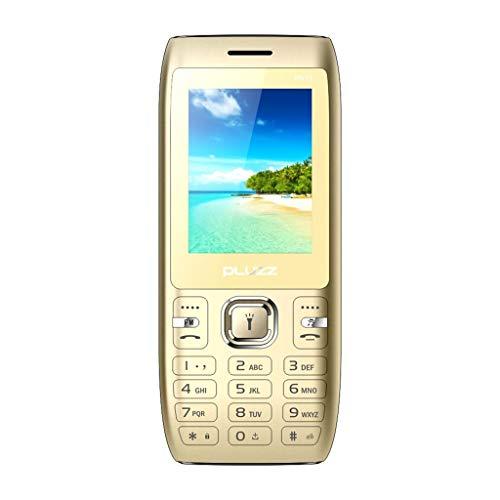 Fulltime E-Gadget Alte Mann Maschine,Funktionale Telefonkamera 2,4 Zoll FM RAM 32 MB Dual SIM-Karte großer Lautsprecher Handy (Gold)