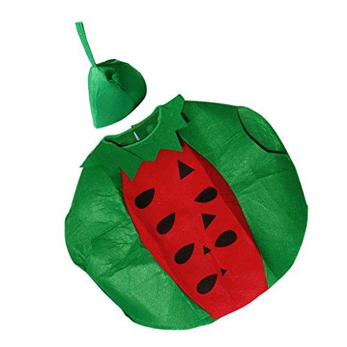 MagiDeal Lustige Erwachsene Obst Kostüm Karneval Fasching Kostüme Halloween Cosplay Party Bekleidung - Wassermelone (Lustige Halloween-kostüme Erwachsenen)