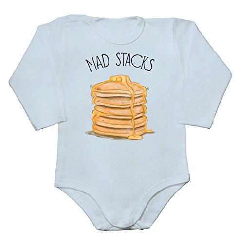 Mad Stacks American Pancakes Baby Long Sleeve Romper Bodysuit Babyspielanzug Extra Small -