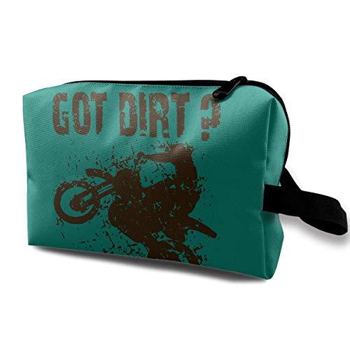 Kosmetiktasche Got Dirt Bike Motorcross Racing wasserdichte Reisetasche mit Reißverschluss, geräumige Kosmetiktasche - Bike Gold Dirt