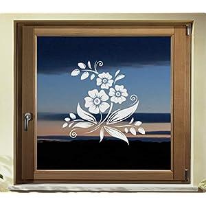 Folie Fenster Tattoo Aufkleber, kein Sichtschutz, Fensterfolie Glasdekor Deko Window wasserfest selbstklebende Folie GD42
