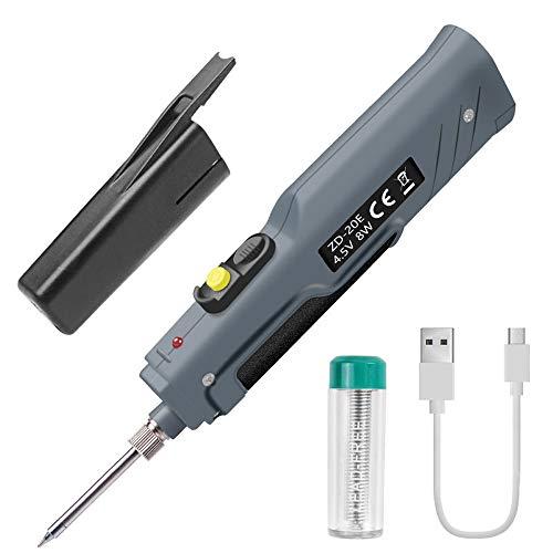 Handskit 4.5V 8W batteriebetriebener Lötkolben mit USB-Ladekabel und kabellosen Ladelötkolben
