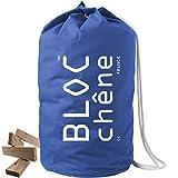 BLOC chêne - Jeu de Construction Premium - Sac Marin Bleu de 420 Planchettes en Chêne Massif Dont 70 surcyclées - Livraison Gratuite