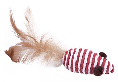 Katzenspielzeug Set – Interaktiv – Federn – Katzenangel – Stoffmäuse – Geschenkbox – The Natural Pet Company Qualitätsprodukt - 6