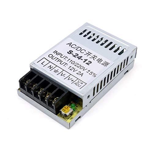 Fuente de alimentación conmutada Universal de CA a CC 12V 2A 24W Portátil Ultrafino LED de Entrada de Controlador de luz 110V / 220V S-24-12