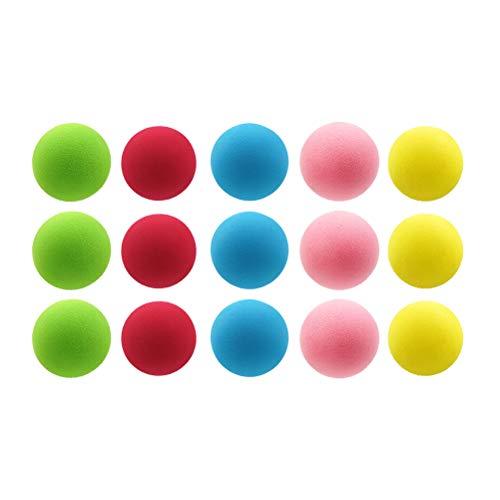 le-Set, Schaumball & Babyball & Spielball, für Baby frühe Ausbildung, 15 x Schaumstoffbälle, 6cm Durchmesser, fünf Farben ()
