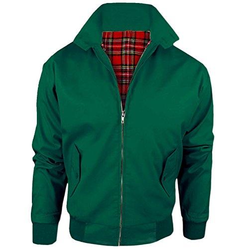 MyShoeStore Herren Jacke, Einfarbig Grün grün Large -