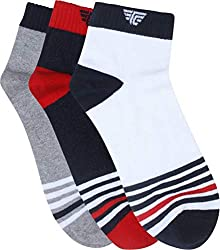 Red Tape Mens Striped Ankle Length Socks
