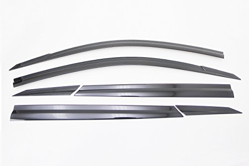 Windabweiser Fenster Schild 6P kompatibel mit 2016, völlig neue Tucson (Hyundai Window Visor)