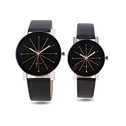 RJL_wrist watche for couple stylish crystel glass pack-2