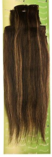 'Dream Hair Extensions à clip Lot de 8 Pièces lisse 22/56 cm Noir Blond méché