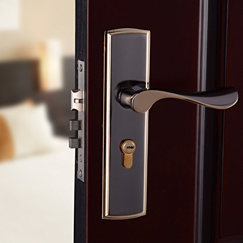 Houtby Semplice stanza Maniglie per porta serratura serratura Interni in legno Hardware mano