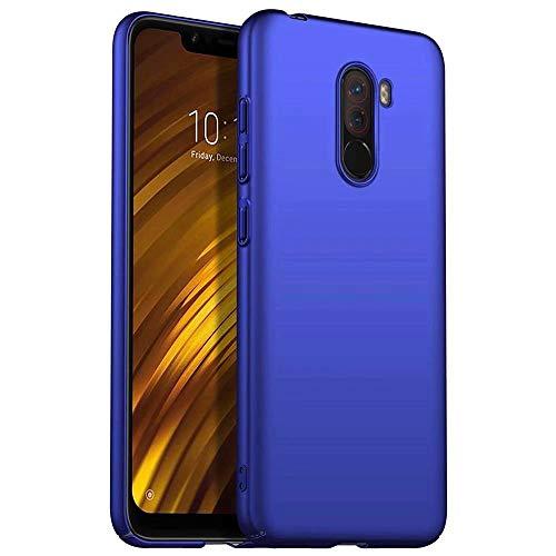 Custodia Xiaomi Pocophone F1, MUTOUREN Cover Ultra Sottile PC Protettiva Case Protezione Caso Antiurto Coperture Bumper, Blu