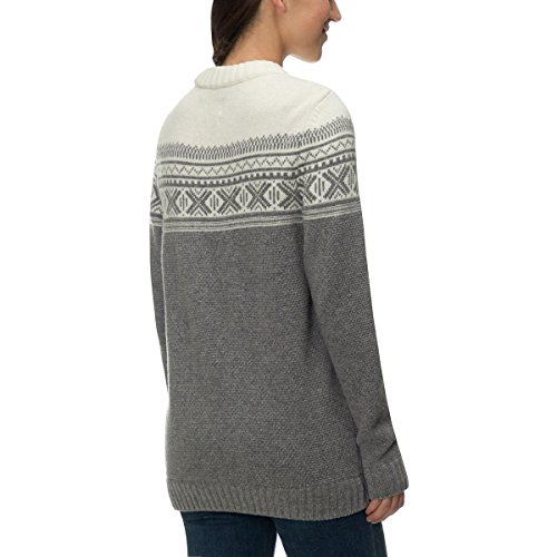 Fjällräven Övik Scandinavian Sweater Women - Strickpullover mit Wolle grey