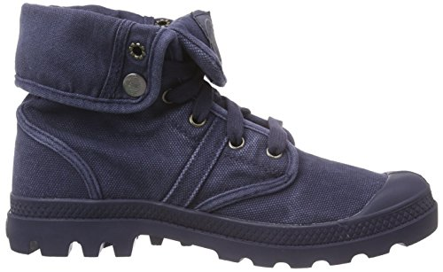 Palladium Damen Pallabrouse Baggy Combat Boots Blau (parisian Night/eiffel Tower 490)