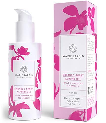 Mandelöl – 100% zertifizierte Naturkosmetik (bio & vegan), 100ml kaltgepresst, intensive und natürliche Pflege für den ganzen Körper – Marie Jardin
