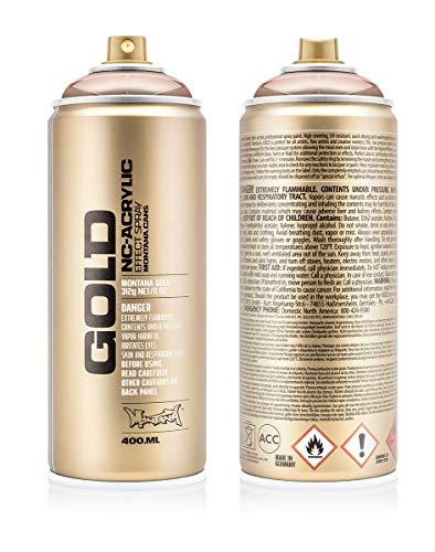 Montana Cans 285936 Montana Spray Dose Gold 400ml, Gld400-m2000-Copperchrome - Montana-spray