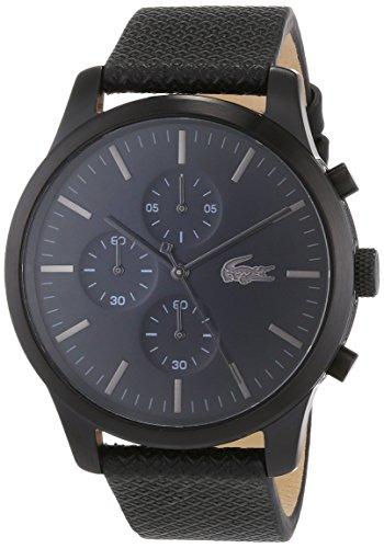 Lacoste Unisex-Armbanduhr Chronograph Quarz Uhr mit Leder Armband 2010947