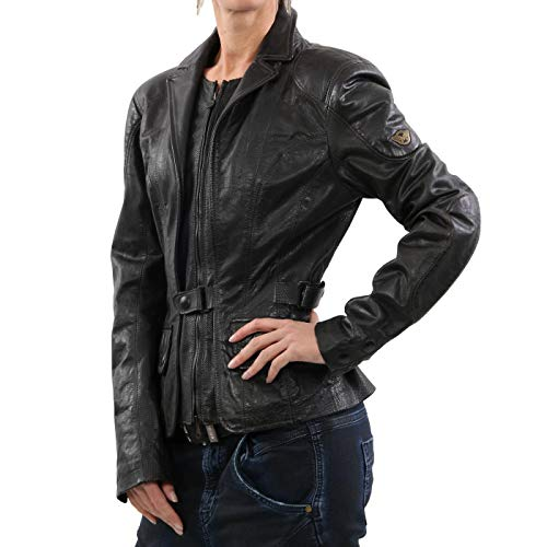 Matchless Damen Leder Jacke Epping Blazer Antique Black 123008 Größe (42) S - Antique Blazer