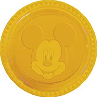 Disney 23cm Embossed Mickey Mouse Party Plates in Red