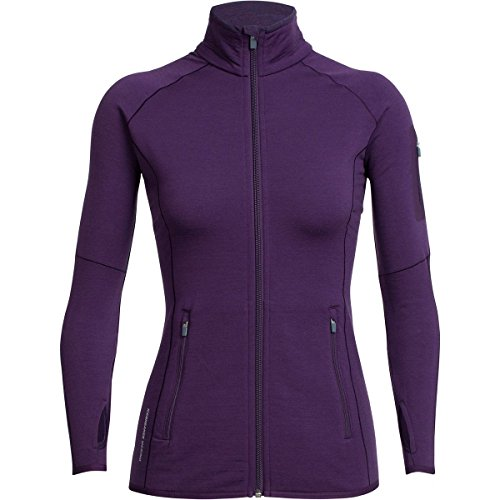 Icebreaker Damen Atom Long Sleeve Zip Jacke eggplant violett