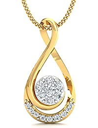 Stylori Mokya Engulfed 18k Gold and Diamond Pendant