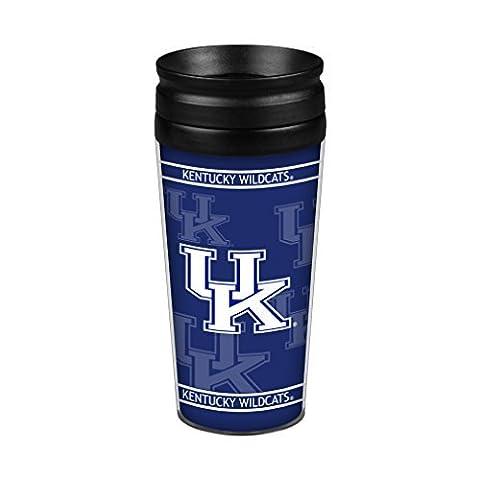 NCAA Kentucky Wildcats Full Wrap Travel Tumbler, 14-Ounce, Blue by Boelter Brands