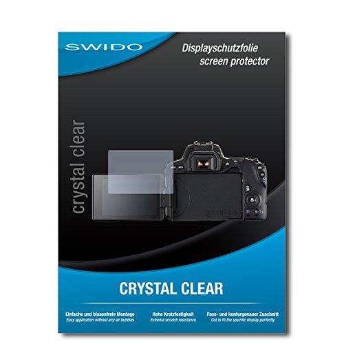 Galleria fotografica 2 x SWIDO® Pellicola Protettiva Canon EOS 200D Screen Protector Pellicola Protettiva Film CrystalClear invisibile