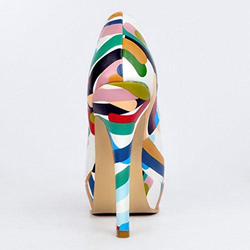 Kolnoo , chaussures compensées femme Multicolore