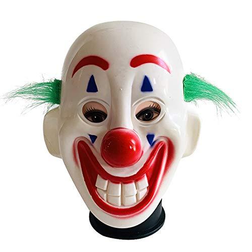 Clown Stadt Kostüm Party - Glomixs Cosplay Neuheit süße Clown Maske, Maskerade beängstigend Horror Erwachsene Latex Requisiten Halloween Dekoration Requisiten Kostüm Party für Halloween Party Leistung