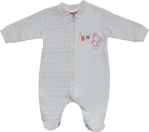 Schnizler Unisex Baby Schlafstrampler Interlock, Schlafanzug, Mäuschen, Gr. 74, Mehrfarbig (140)