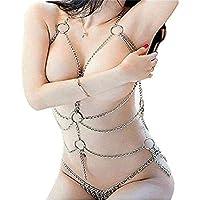 Conjunto De Cadenas De Lencería Para Mujer Conjunto De Cadenas De Metal Atractivas, Ropa Interior Erótica